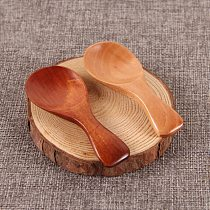 Mini Wooden Spoon Kitchen Spice Spoon Wood Sugar Tea Coffee Scoop Small Short Condiment Spoons Utensils Cooking Tool