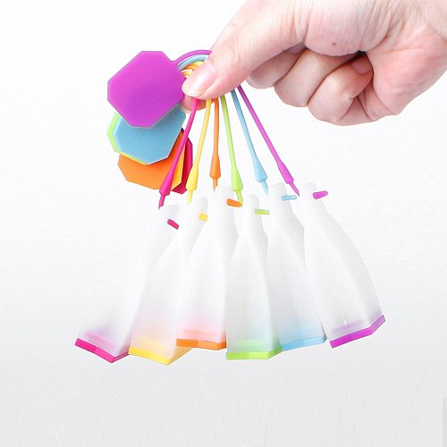 1PC Silicone Tea Bag Filters Strainer Herbal Spice Infuser Scented Teaware Kitchen Tools Food Grade High Temperature Resistance
