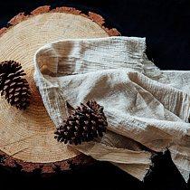 2 pcs/set Linen Cotton Napkins 45X66cm/66X90cm Tea Towels on the Table Solid Color Home Kitchen Dishcloth