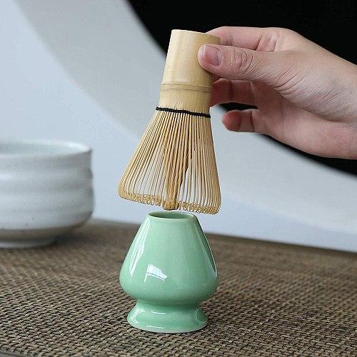 1PC Bamboo Matcha Green Tea Set Japanese Style Powder Whisk Green Tea Preparing Matcha Brush