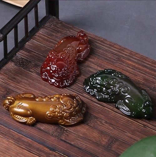 Lucky tea pet color PI xiu tea table decoration resin kung fu tea set tea ceremony accessories creative tea pet tea play