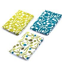 3PCS/ set kitchen napkin 62x40 cm 100% cotton   rustic style tea towels on the table
