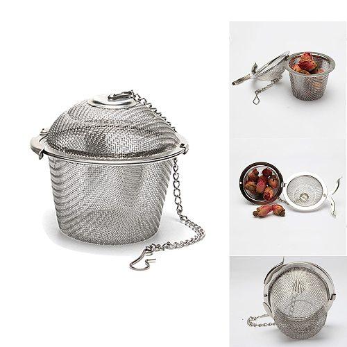 Reusable Stainless Steel Tea Strainer Loose Leaf Herbal Spice Filter Tea Infuser Multifunction Teaware Teapot Accessories