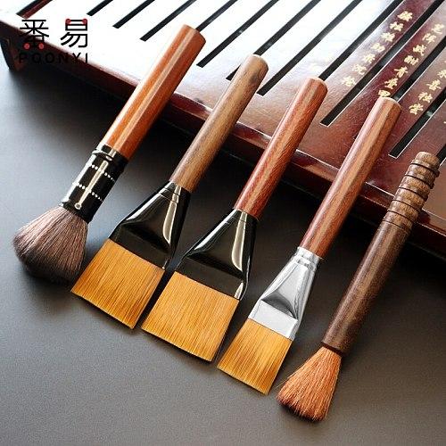 1 PCSandalwood Tea Pot Brush Ebony Crafts Kungfu Tea Set Sweep Cleaning Tool Clay Pot Tea Tray Cleaner Pen