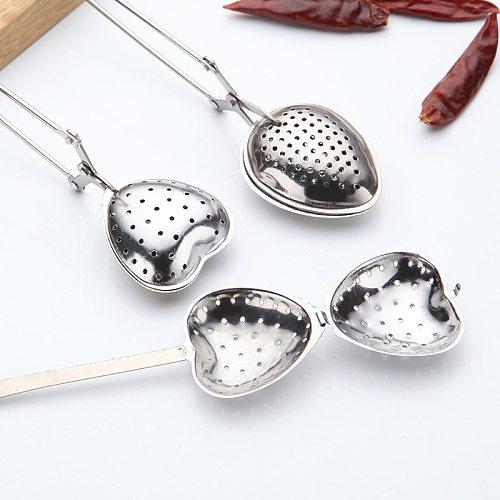 5 Style Spring Spoon Tea Mesh Ball Infuser Filter Teaspoon Squeeze Creative Strainer Metal Stainless Steel Handle Spoon
