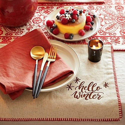 Paper window embroidery wedding cloth placemat linen napkins 30x40cm  tea towel table napkin cotton