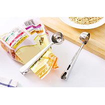 Tea Coffee Measuring Spoon Scoop with Clip Kitchen Supply Powder Measuring Tools Good Sealing and Keep Fresh Delicious