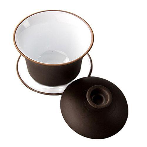 High Quality Tea Set Purple Clay Tea Tureen Kung Fu Teaware Ceramics Gaiwan Chinese Tea Bowl Set Bowl With Lid Cup Tea Utensils