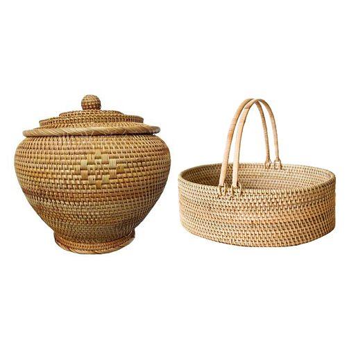 Tea Cake Tin Box Container Jar Organizador Tank Jug Sundries Organizer Rattan Basket & Woven Rattan Basket Snack Basket