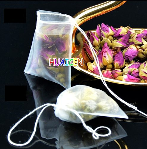 Teabags Empty Tea Bags Nylon material With String Heal Seal Filter Paper for Herb Loose Tea 100pcs/lot