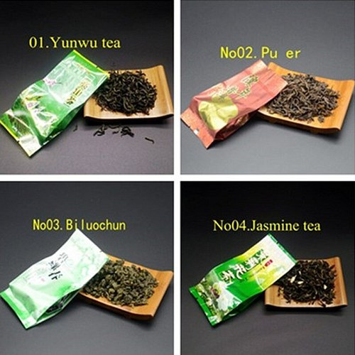 16 Different Flavors Chinese Tea Includes Milk Oolong Pu-erh Herbal Flower Black Green Tea Each tea Two Bags