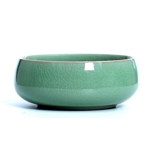 Longquan celadon medium tea wash water  slag bucket water bowl Kungfu tea set tea ceremony accessories simple ceramic cup wash