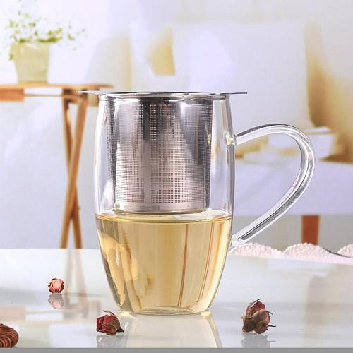 Stainless Steel Tea Leaking Round Side Reusable Tea Infuser Strainer Teapot Metal Loose Tea Leaf Spice Filter Kitchen Accessorie