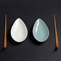 Jade Porcelain Ceramic Whiteware Tea Holder Ceramic Kung Fu Tea Set Tea Ceremony Accessories Tea Spoon Tea Shovel Tea Scoop