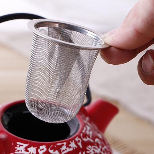 Stainless Steel Mesh Tea Infuser Reusable Tea Strainer Teapot Tea Leaf Spice Filter Drinkware Kitchen Accessories