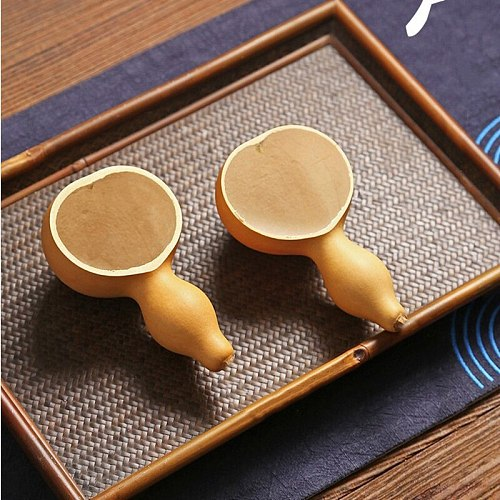 Creative Natural Chinese Calabash Tea Scoops Matcha Scoop Kong Fu Tea Set Tools Green Tea Bailer Kitchen Accessories