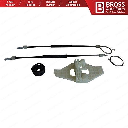 Bross BWR5278 Power Window Regulator Window Lifter Repair Set Front Right Door 9677416880 for Citroen C-Elysee Peugeot 301