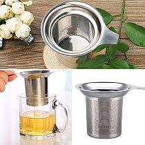 304 Metal Leak Tea Infuser Stainless Steel Loose Leaf Strainer Filter Herbal Kitchen Filter Accessories Reusable Tea Infusers