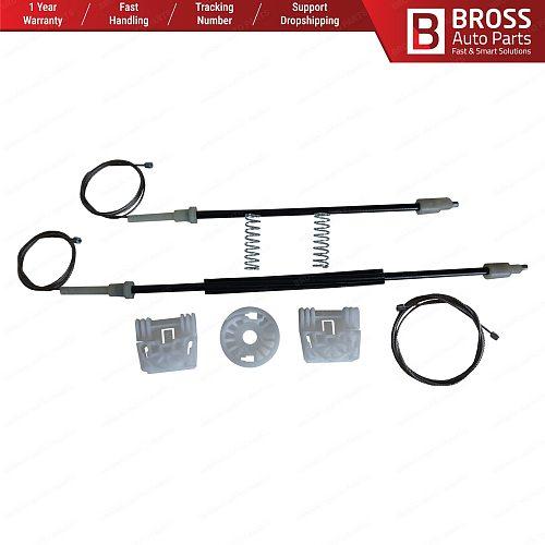 Bross BWR5273 Power Window Regulator Window Lifter Repair Set Front Left A2127201579, A2048200142 for Mercedes W204 C180 2007–14