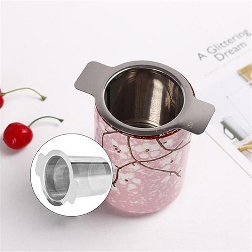 Binaural Tea Leak Tea Leak Filter Reusable Tea Strainer Teapot Metal Tea Infuser 304 Stainless Steel Loose Tea Leaf Accessories