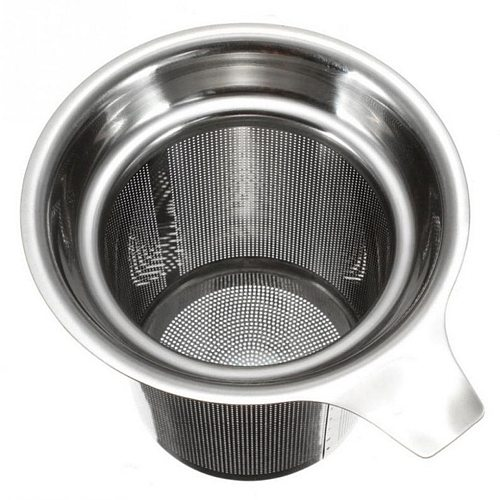 Tea Strainers Tea Leaves Separator Funnel Round Edge Single-Wire Mesh Filter Stainless Steel