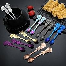 2pcs Stainless Steel Coffee Tea Spoon Stir Mixing Scoop Cartoon Lovers Wedding Valentine Gifts Milkshake Spoon
