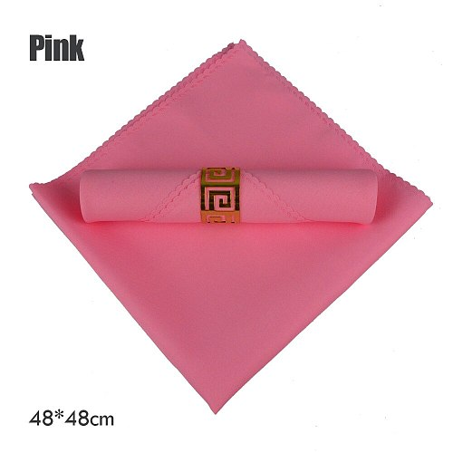 6pcs/lot Pink/Tiffany Solid Plain Table Napkin For Boy Girl Birthday Party Home Serviette Kids Event Decoration Folding Cloth