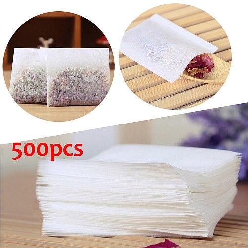 500Pcs Teabags 5.5 x 6.2cm Empty Scented Tea Bags Heal Seal Filter Paper for Herb Loose Green Puer Tea Bolsas de papel