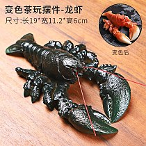 Vivid Crab Lobster Changing Color Tea Pets Novelty Table Decoration Home Tray Tea Pet Yixing Chinese Kungfu Tea Sets