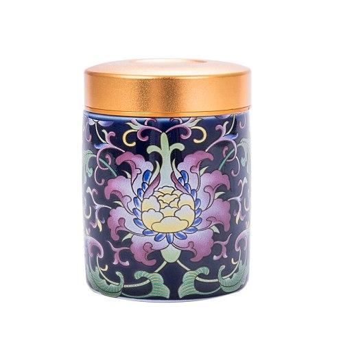 Chinese Travel Metal Tea Caddy Organizer Gift Seal Simple Creative Mini Cofee Sugar Tea Box Household Theedoos Teaware DF50CY
