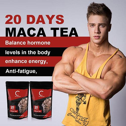 GPGP Herbal Maca tea Tonifying Kidney Tea Improving Male sexual function Fatique Relieve Renew Spirits Energy Tonic Drink