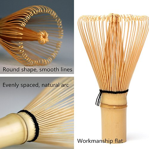 Japanese Ceremony Bamboo 64 Matcha Powder Whisk Green Tea Chasen Brush Tools Tea Sets Green Tea Set Accessories