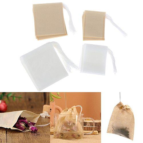 100Pcs/Lot Tea Bags Bags For Tea Bag Infuser With String Heal Seal 5*6cm/7*8cm/8*10cm Sachet Filter Paper Teabags Empty Tea Bags