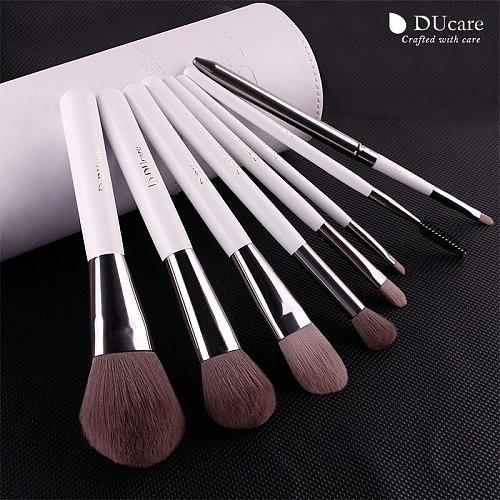 DUcare 8PCS Makeup Brushes Beauty Brush Set Brushes for Makeup Powder Foundation Eyeshadow Brushes With Cylinder Cosmetic Tools