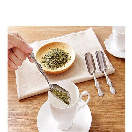 Stainless Steel Tea scoop Minimalist Teaspoon Tea Shovel Tea Teaspoon Coffee Scoops Simple And Practical Chinese Useful Tea Tool