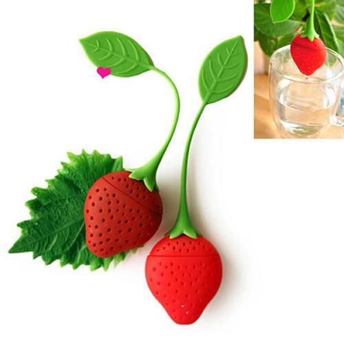 Strawberry Tea Strainer Tea Bags Silicone Loose-leaf Herbal Spice Infuser Filter Diffuser Cartoon Tea Accessories Teaware