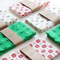 2pcs/set Christmas napkins 45*70cm New cotton Cedar printed tea towels Thickenhome table placemats