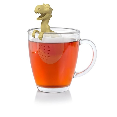 Creative Baby Dinosaur Silicone Tea Bag Tea Infuser Silicone Strainer Leaf Herbal Spice Filter Diffuser Teapot Brewing Device