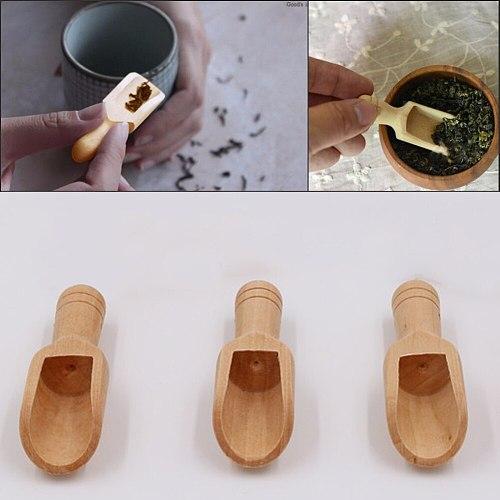 Natural Wooden Coffee Tea Sugar Salt Powder Spoon Scoop Kitchen Utensil Tool Spoon for scooping Honey Coffee