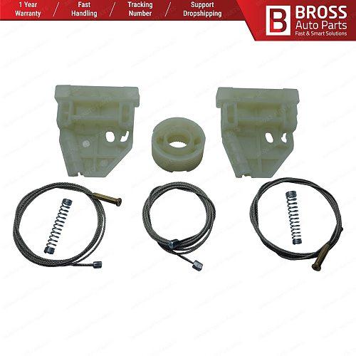 Bross BWR5275 Power Window Regulator Window Lifter Repair Set Front Left Door 81626456039, 81626456055 for MAN TGS TGX Top Store