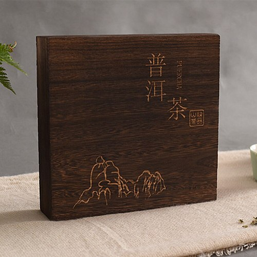 Herbs Tea Box Vintage Canister Accessories Flip Cover Elegant Package Square Portable Jewelry Gift Wooden Storage Organizer
