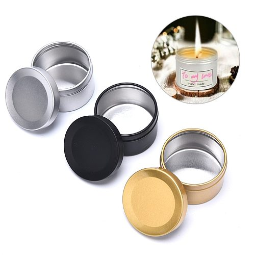 50ml Round Aluminum Tin Tea Light Cups Empty Case Candle Wax Containers Candle Mold DIY Wax Candles Tealight Accessories