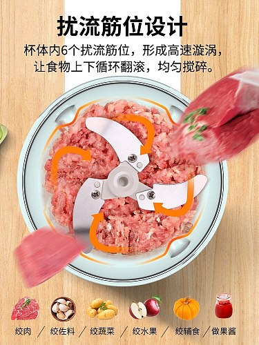 Manual Meat Grinder Hand-power Mini Mincer Mixer Blender Fruit Nuts Shredders Stuffers Sausage Mutfak Robotu Kitchen BY50JR