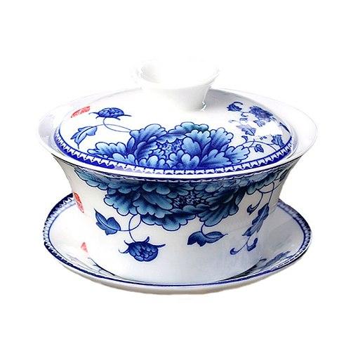 XMT-HOME Tea tureen gaiwan jingdezhen tea set gaiwan hand holder tea pot kettle 1pc