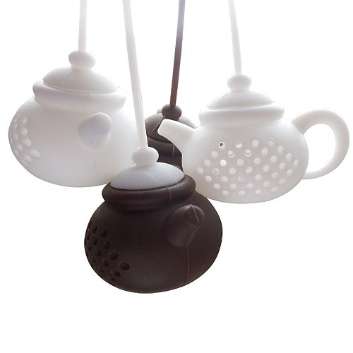 Details About Teapot-Shape Tea Infuser Strainer Silicone Tea Bag Leaf Filter Diffuser Tea Tools SuppliesW5