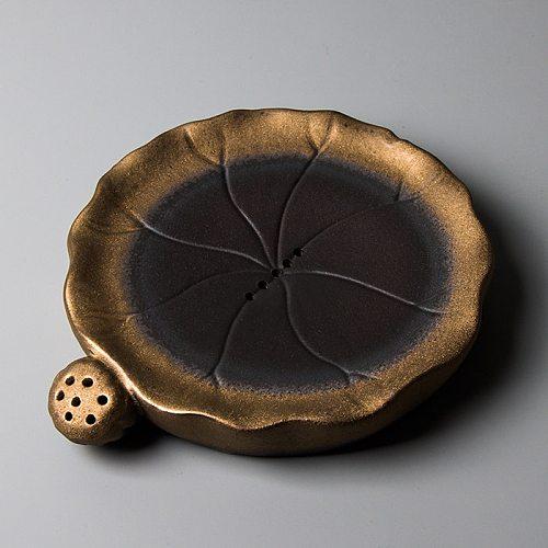 LUWU traditional ceramic teapot trivets lotus chinese teapot holders household porcelain tea pot stand