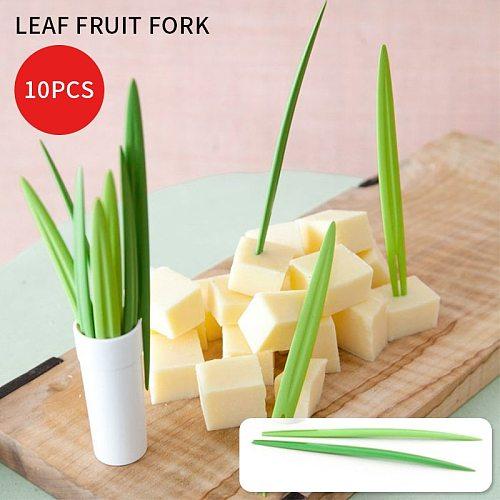 10pcs/Set Appetizer Dessert Forks Wedding Festival Birthday Decor   Fruit Fork Chopsticks Cocktail Fork Kitchen Tools