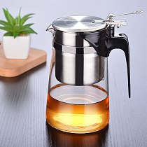 750Ml Glass Teapot Heat Resistant With 304 stainless steel Tea Infuser Filter for oolong green and  black and pu erh tea