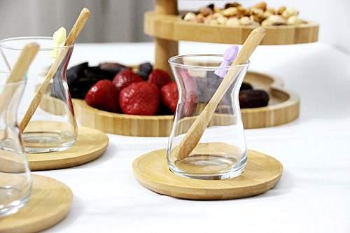 Tea Set Kitchen Utensils Glass Bamboo Drinkingware Tableware Teacup Canecas Tea Set Teaware Tea Mugs Home Decoration