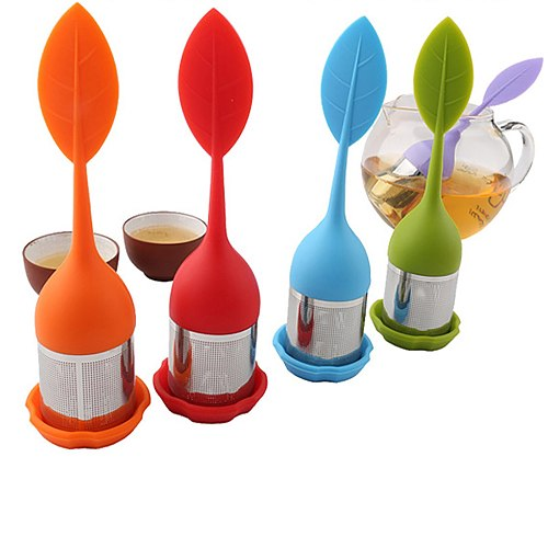 2021 New Tea Infuser Stainless Steel Tea Ball Leaf Tea Strainer For Brewing Device Herbal Spice Filter With Silicone Handle L*5